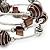 Silver-Tone Beaded Multistrand Flex Bracelet (Chocolate Brown) - view 5