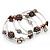 Silver-Tone Beaded Multistrand Flex Bracelet (Chocolate Brown) - view 6