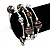 Silver-Tone Beaded Multistrand Flex Bracelet (Chocolate Brown) - view 7