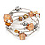 Silver-Tone Beaded Multistrand Flex Bracelet (Apricot Yellow)