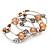 Silver-Tone Beaded Multistrand Flex Bracelet (Apricot Yellow) - view 5