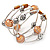 Silver-Tone Beaded Multistrand Flex Bracelet (Apricot Yellow) - view 6