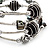 Silver-Tone Beaded Multistrand Flex Bracelet (Black) - view 5
