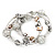 Silver-Tone Beaded Multistrand Flex Bracelet (White) - view 8