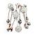 Silver-Tone Beaded Multistrand Flex Bracelet (White) - view 6
