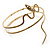 Antique Gold Textured Snake Armlet Bangle - up to 29cm upper arm - view 9