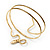 Antique Gold Textured Snake Armlet Bangle - up to 29cm upper arm - view 5