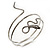 Antique Silver Textured Snake Armlet Bangle - up to 28cm upper arm
