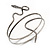 Antique Silver Textured Snake Armlet Bangle - up to 28cm upper arm - view 3