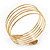 Gold Plated Crystal Leaf Armlet Bangle - up to 28cm upper arm - view 5