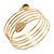 Gold Plated Crystal Leaf Armlet Bangle - up to 28cm upper arm - view 2
