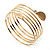 Gold Plated Crystal Leaf Armlet Bangle - up to 28cm upper arm - view 8