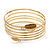 Gold Plated Crystal Leaf Armlet Bangle - up to 28cm upper arm - view 9