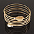 Gold Plated Crystal Leaf Armlet Bangle - up to 28cm upper arm - view 4