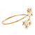 Gold Plated Diamante Floral Upper Arm Bracelet - up to 28cm upper arm - view 9