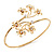 Gold Plated Diamante Floral Upper Arm Bracelet - up to 28cm upper arm - view 10