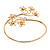 Gold Plated Diamante Floral Upper Arm Bracelet - up to 28cm upper arm - view 7