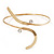 Gold Plated 'Zig-Zag' Armlet Bangle - up to 27.5cm upper arm - view 2