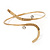 Gold Plated 'Zig-Zag' Armlet Bangle - up to 27.5cm upper arm - view 8