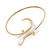 Gold Plated 'Zig-Zag' Armlet Bangle - up to 27.5cm upper arm - view 6