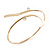 Gold Plated 'Zig-Zag' Armlet Bangle - up to 27.5cm upper arm - view 7