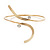 Gold Plated 'Zig-Zag' Armlet Bangle - up to 27.5cm upper arm - view 9