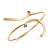 Gold Plated 'Zig-Zag' Armlet Bangle - up to 27.5cm upper arm - view 4