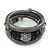 Black Hematite/Glass Beaded Coil Bangle Bracelet - Adjustable - view 6