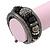 Black Hematite/Glass Beaded Coil Bangle Bracelet - Adjustable - view 2