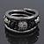 Black Hematite/Glass Beaded Coil Bangle Bracelet - Adjustable - view 7