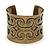 Burn Gold Effect Cuff Bracelet - 5.5cm Width/ 19cm Length