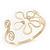 Gold Plated Textured 'Flower & Swirls' Diamante Upper Arm Bracelet Armlet - Adjustable - view 8