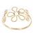 Gold Plated Textured 'Flower & Swirls' Diamante Upper Arm Bracelet Armlet - Adjustable - view 9