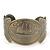 Brushed Gun Metal 'Sailing Souls' Silhouette Cuff Bracelet - up to 20cm Length
