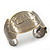 Brushed Gun Metal 'Sailing Souls' Silhouette Cuff Bracelet - up to 20cm Length - view 4