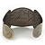 Brushed Gun Metal 'Sailing Souls' Silhouette Cuff Bracelet - up to 20cm Length - view 5