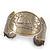 Brushed Gun Metal 'Sailing Souls' Silhouette Cuff Bracelet - up to 20cm Length - view 6