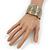 Brushed Gun Metal 'Sailing Souls' Silhouette Cuff Bracelet - up to 20cm Length - view 3