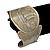 Brushed Gun Metal 'Sailing Souls' Silhouette Cuff Bracelet - up to 20cm Length - view 2