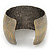 Brushed Gun Metal 'Florentina' Silhouette Cuff Bracelet - up to 18cm Length - view 5