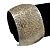 Brushed Gun Metal 'Florentina' Silhouette Cuff Bracelet - up to 18cm Length - view 2