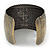 Brushed Gun Metal 'Pilgrim' Silhouette Cuff Bracelet - up to 20cm Length - view 2