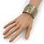 Brushed Gun Metal 'Pilgrim' Silhouette Cuff Bracelet - up to 20cm Length - view 5