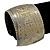 Brushed Gun Metal 'Pilgrim' Silhouette Cuff Bracelet - up to 20cm Length - view 6