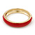 Red Enamel Clear Crystal Hinged Bangle Bracelet In Gold Plating - 19cm Length - view 9