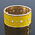 Bright Yellow Enamel Crystal Hinged Bangle In Gold Plating - 18cm Length