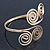 Egyptian Style Twirl Upper Arm, Armlet Bracelet In Gold Plating - Adjustable - view 3