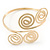 Egyptian Style Twirl Upper Arm, Armlet Bracelet In Gold Plating - Adjustable - view 11