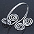 Egyptian Style Twirl Upper Arm, Armlet Bracelet In Rhodium Plating - Adjustable - view 4