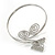 Silver Plated Filigree, Crystal Butterfly & Twirl Upper Arm, Armlet Bracelet - Adjustable - view 5